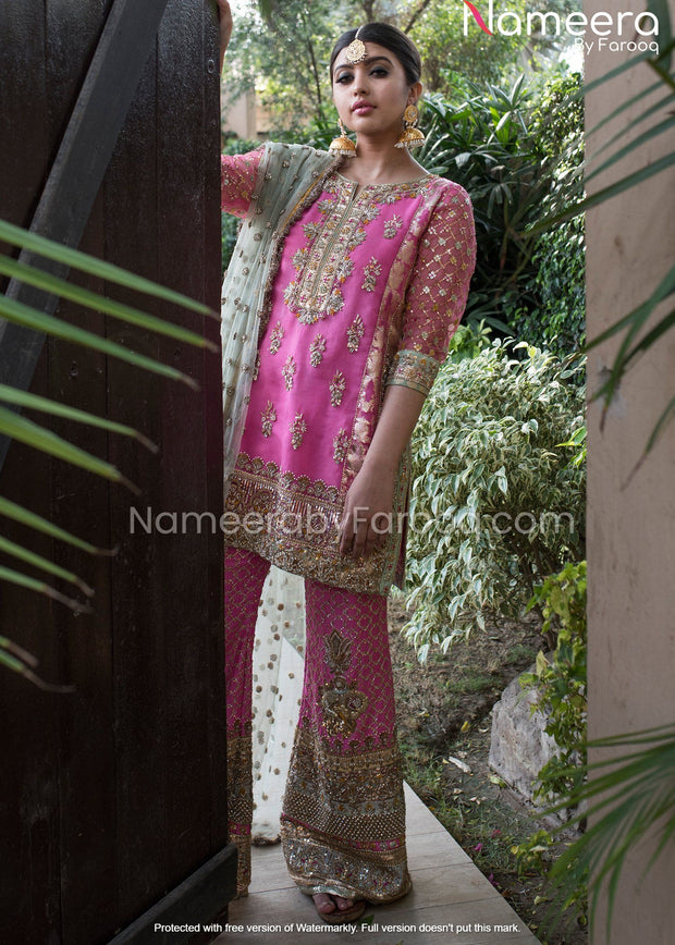 Embroidered Kameez Trouser for Wedding Party Wear