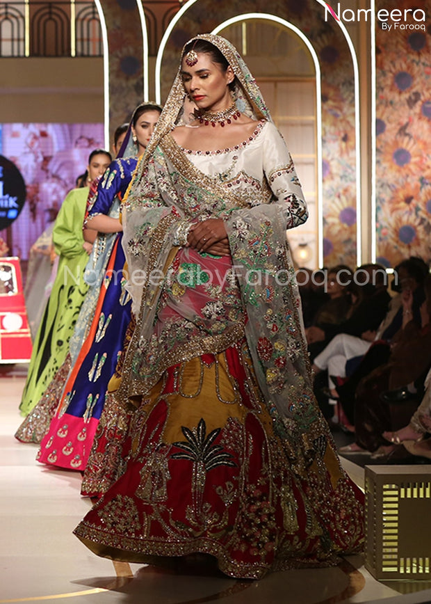 Embroidered Mustard Lehenga for Wedding Party 2021