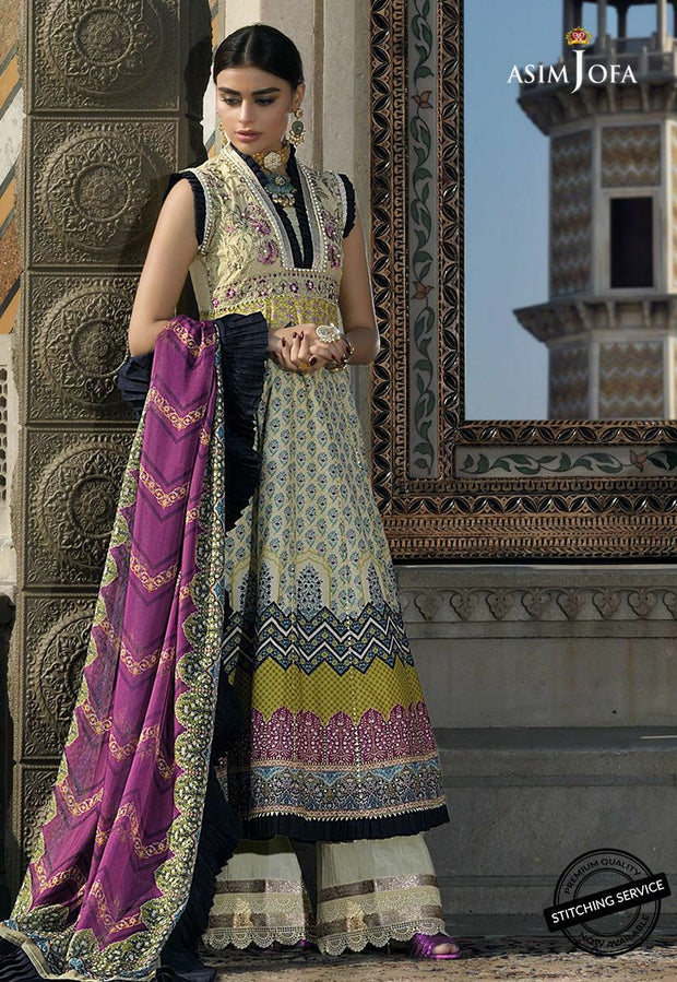Embroidered Lawn Frock in Ivory Color