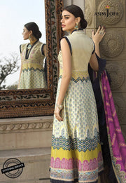 Embroidered Lawn Frock in Ivory Color Backside