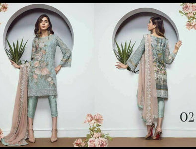 Beutifull dress by sareen in chiffon cloth Model #C  1138
