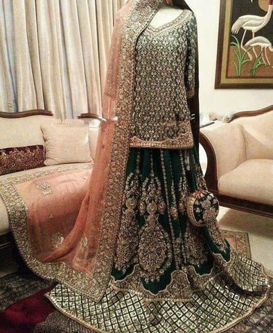 Traditional Pakistani Bridal Lahnga Model# B 1920