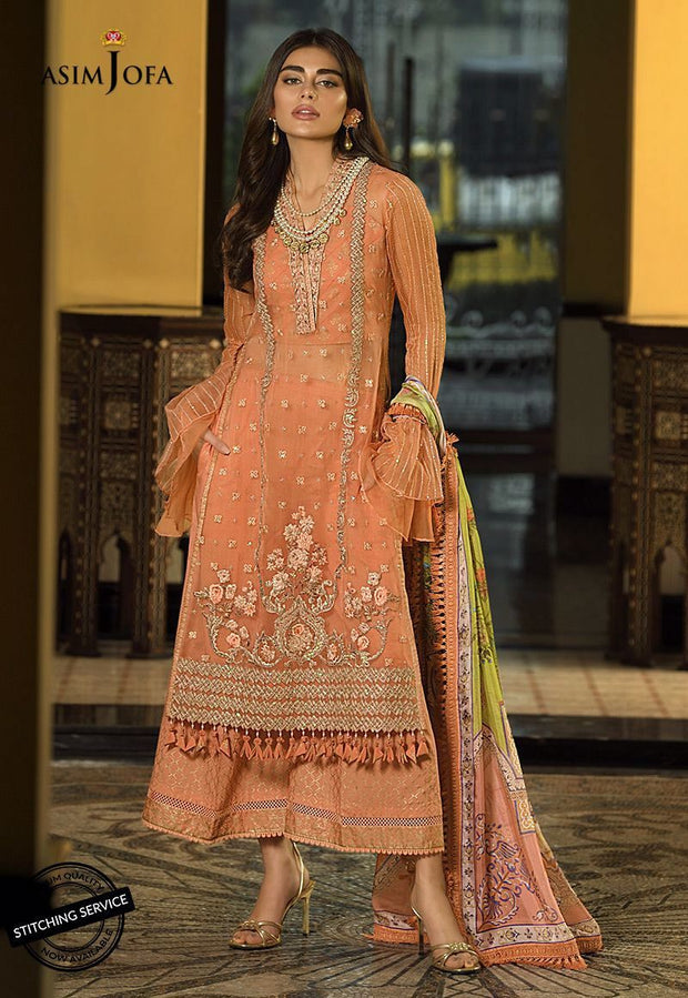 Fancy Eid Lawn Dress with Embroidery Front Look