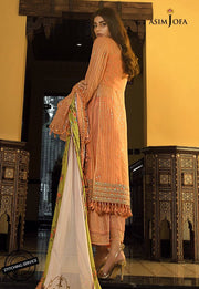 Fancy Eid Lawn Dress with Embroidery Backside