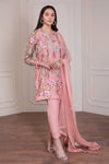 Fancy Pakistani dress in beautiful tea pink color # P2223