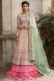 Elegant Pakistani fancy bridal dress in pink color # B3306