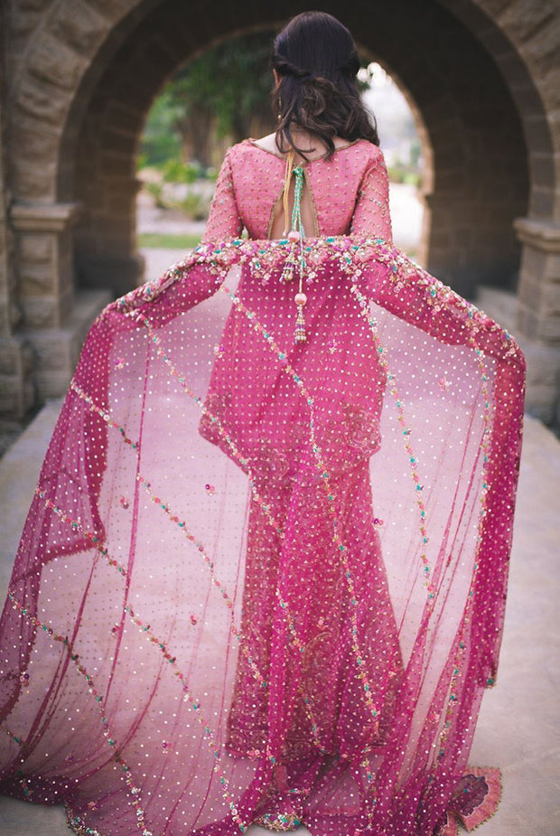 Beautiful fish shape lehnga dress in lavish Pink color # B3320