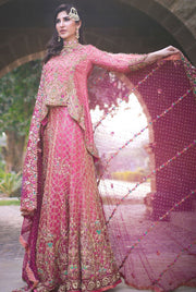 Beautiful fish shape lehnga dress in lavish Pink color