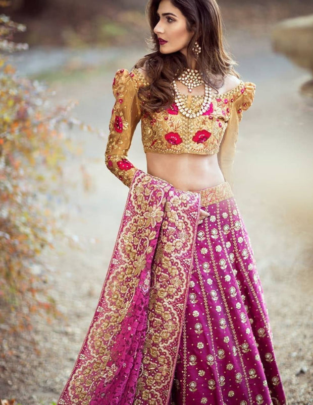 Latest Royal Bridal Ghagra Choli