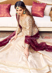 Gold Bridal Dresses Pakistani