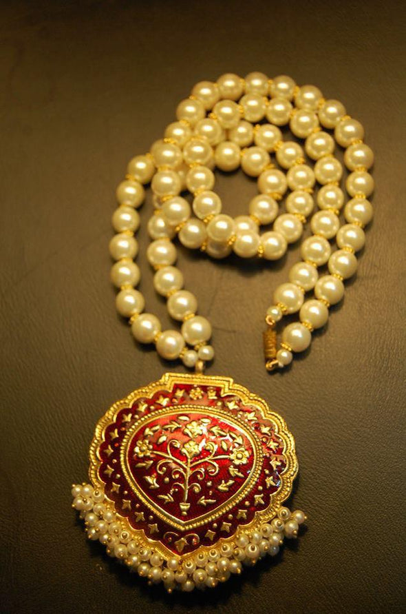 Gold Plated Mala Locket Set