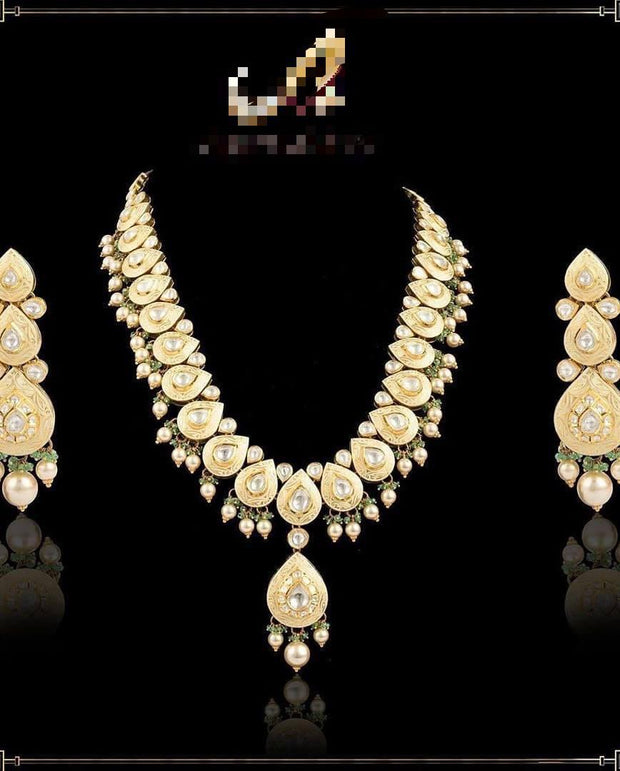 Gold Plated Meenakari Necklace Set