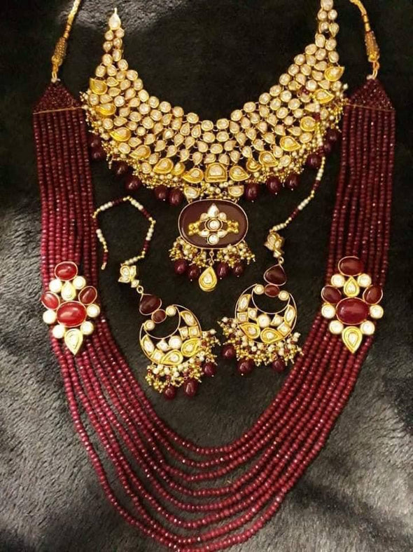 Gold Plated Necklace with Rani Haar
