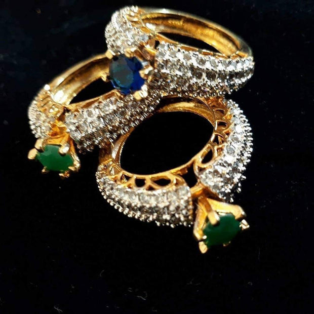 Gold Plated Rings with Precious Stones