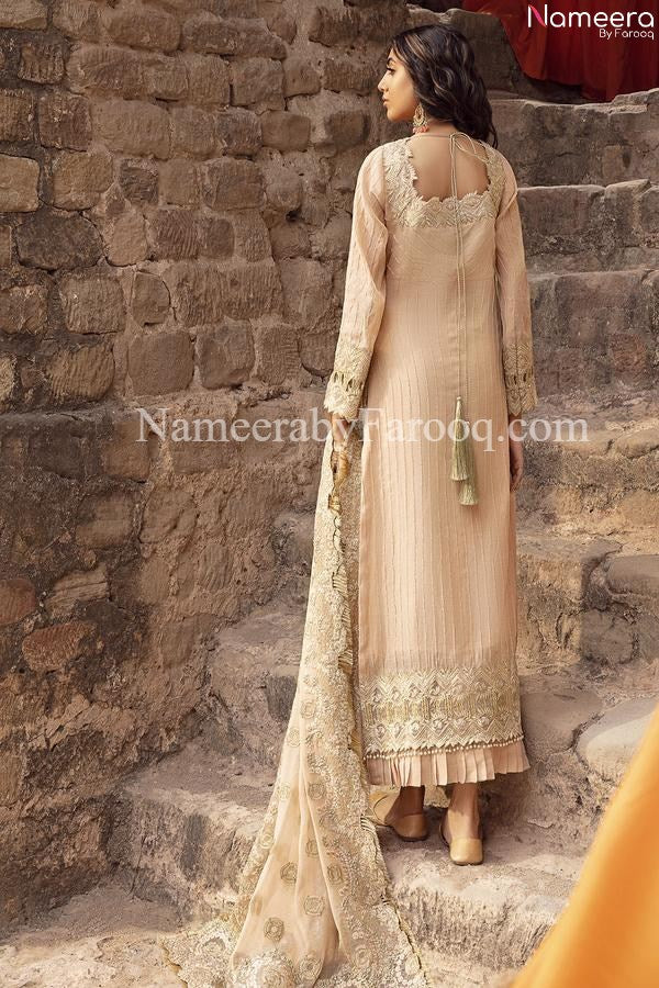 Golden Pakistani Dress 2021