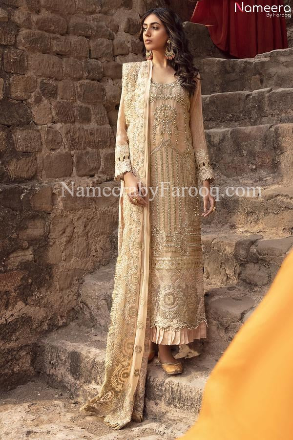 Golden Pakistani Dress