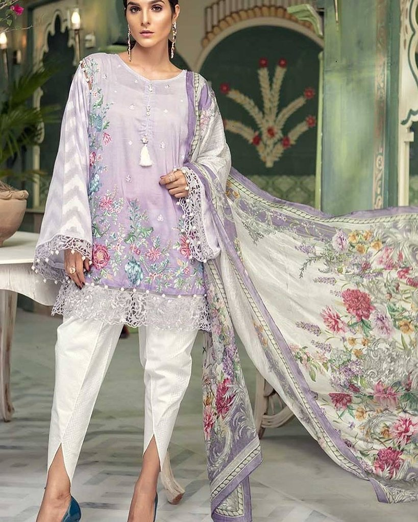 1babe079c4 Gorgeous Jaal Work Lawn dress with Chiffon Dupatta by Maria B – Nameera by  Farooq