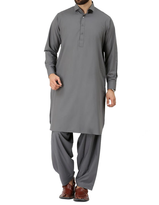 Gray Shalwar Kameez for Men