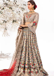 Heavy Bridal Lehnga Choli in Silver Color
