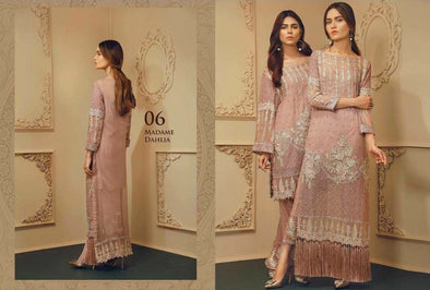 Beautifull chiffon dress by chantell jasmine in light pink color