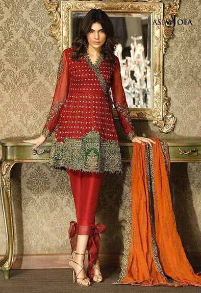 Beutifull net chiffon dress by asim jofa Model #C 517