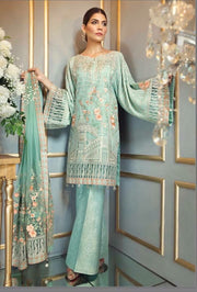Beautiful chiffon dress by ayra in light turquoise color