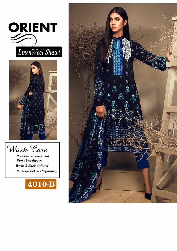 Beutifull winter dress by orient with woolen shawl Model # W 899