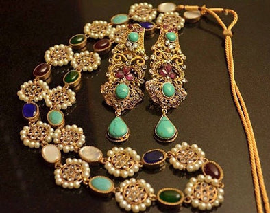 Kundan necklace and earrings Model #Kundan 2