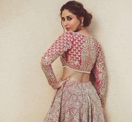 Baeutiful bridal lahnga in shoking silver pink and pinkish red color