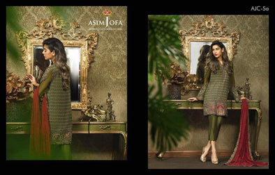 Eid dresses 2017 lawn dress by asim jofa Model#Eid 264