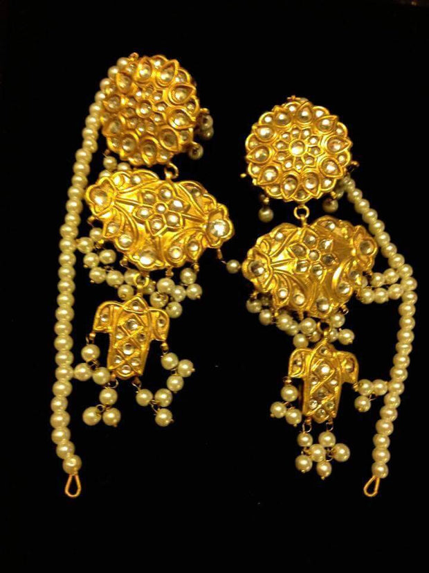Kundan earrings Model#Kundan 27