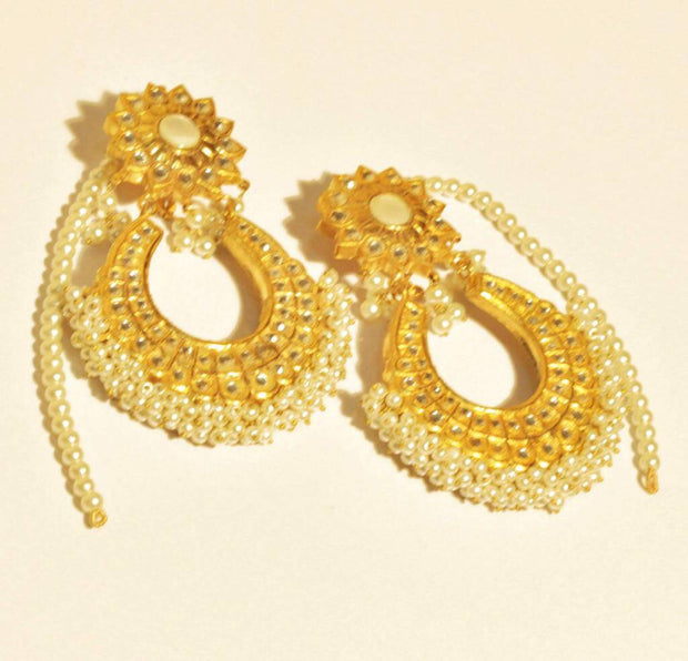 Kunda earrings in Bali style Model#Kundan 28