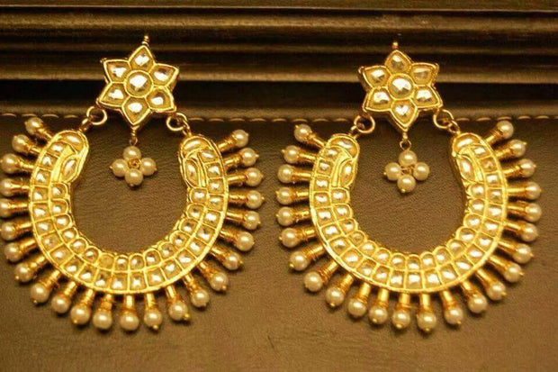 Kundan Bali style earrings Model#Kundan 29