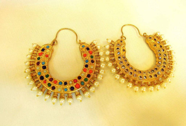 Kundan earrings in Bali style Model#Kundan 29