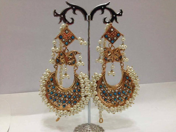 Kundan jhumka earrings Model#Kundan 34