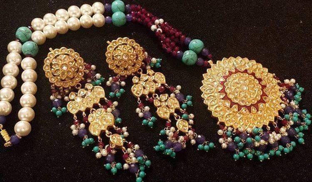 Kundan mala set and earrings Model#Kundan 41