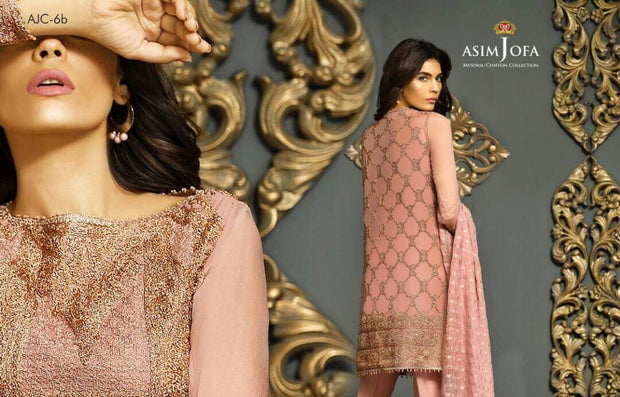 Eid dresses 2017 in chiffon by asim jofa Model#Eid 277