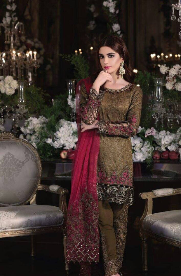 Eid dresses 2017 in chiffon by maria b Model#Eid 279