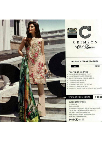 Eid dresses 2017 lawn dress by crimson Model#Eid 275