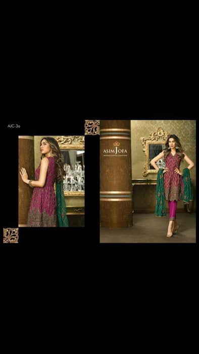Eid dresses 2017 Chiffon dress by asim jofa Model#Eid 282