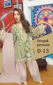 Eid dresses 2017 Chiffon dress by deepak parwani Model# Eid 281