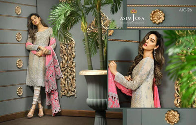 Eid dresses 2017 Chiffon dress by asim jofa Model#Eid 283