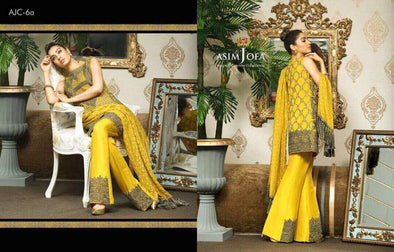 Eid dresses 2017 Chiffon dress by asim jofa Model#Eid 291