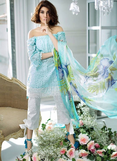 Lawn dress by sana sfinaz Model#L 78