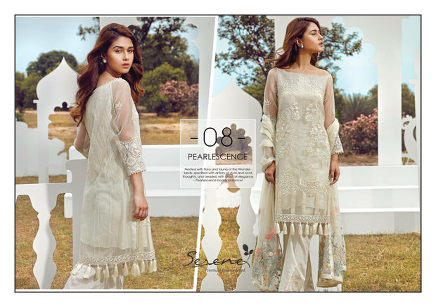 Dress by sareen in offwhite color with beautiful threds and tila embroidery Model# C 547