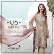 Dress by sareen in light brown and pink color with threds embroidery and tila work Model # C 549