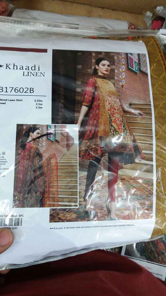Beautiful khadi dress in linen cloth Model # 712