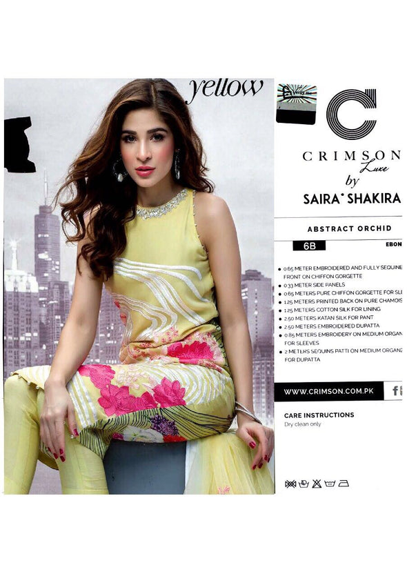 Beutifull chiffon dress by crimson in light green color Model#C 805