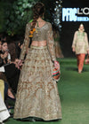 Indian Bridal Choli Lehnga for Wedding Backside View