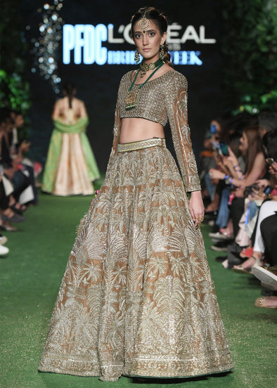 Indian Bridal Choli Lehnga for Wedding Front Look